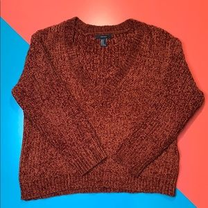 Forever21 Chantilly Rust V Neck Sweater